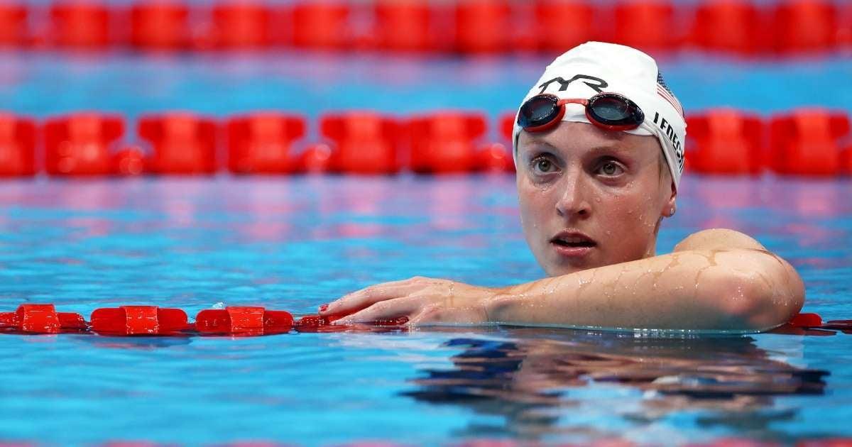 Tokyo Olympics 2021 Katie Ledecky wins medal first race