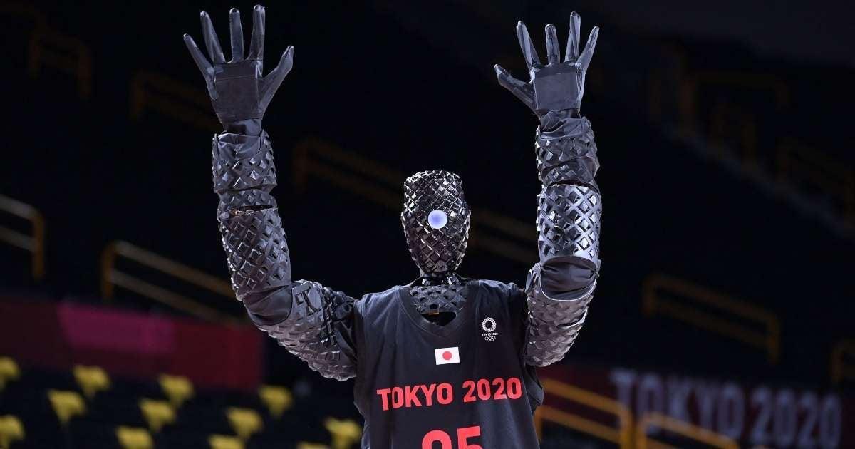 Tokyo Olympics robot sinking half court shot future