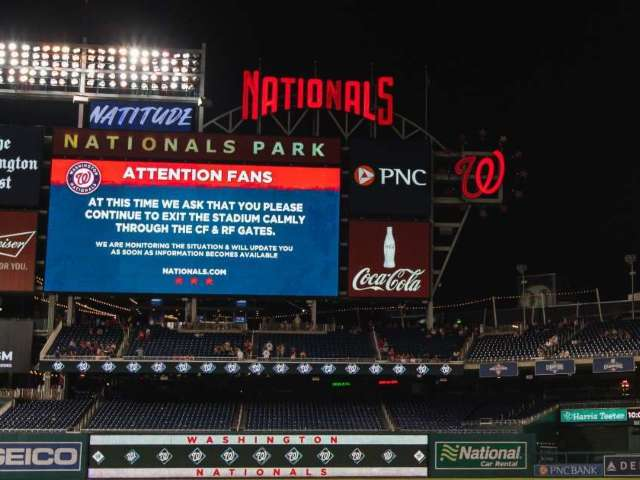 Washington Nationals' Game Suspended After Shooting Outside Stadium