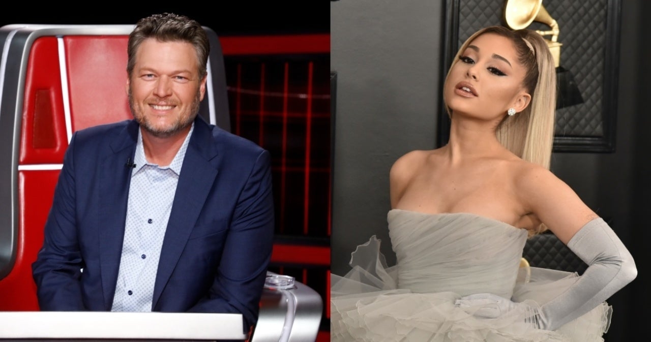 Blake Shelton Says Ariana Grande 'Came out Swinging' During 'The Voice' Blind Auditions.jpg