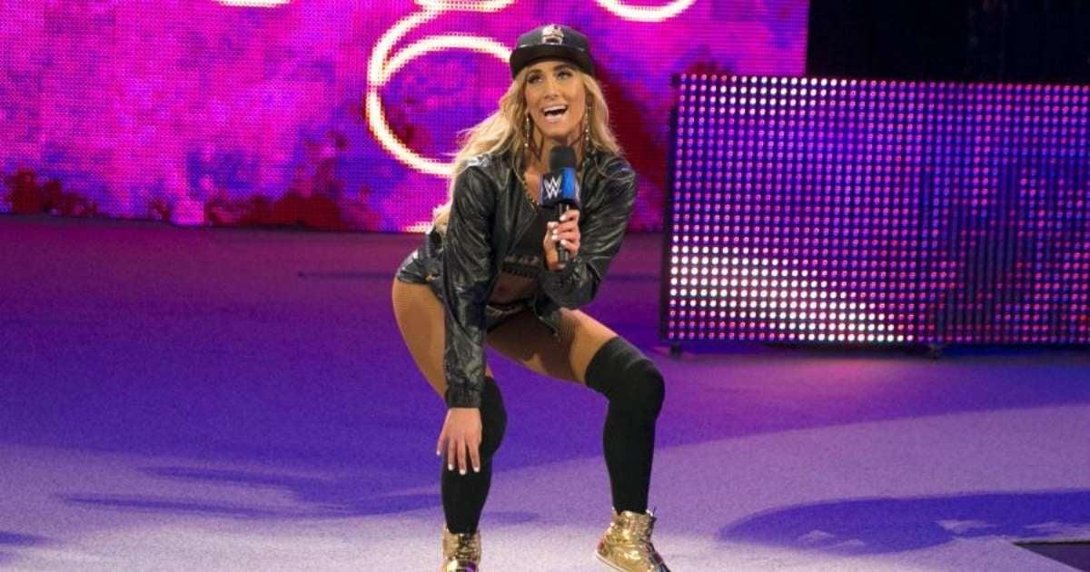 Carmella WWE wardrobe malfunction live event hilarious response