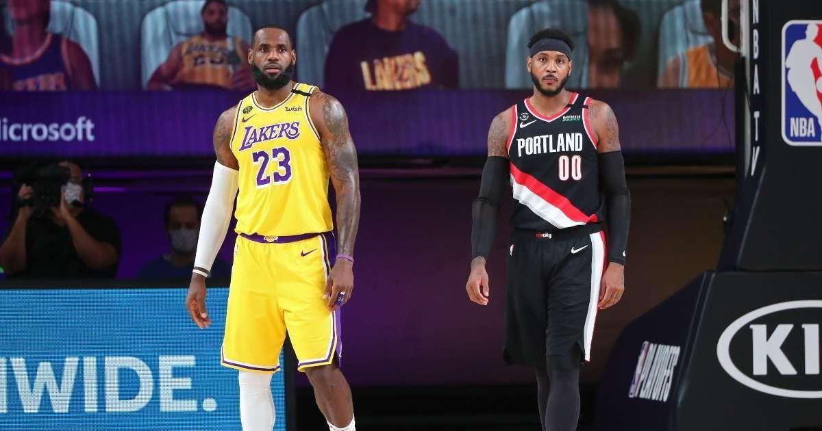 Carmelo Anthony LeBron James lakers NBA fans lose