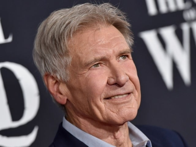 Harrison Ford Congratulates Retiring Firefighter for Over 30 Years of Service in Chance Photograph