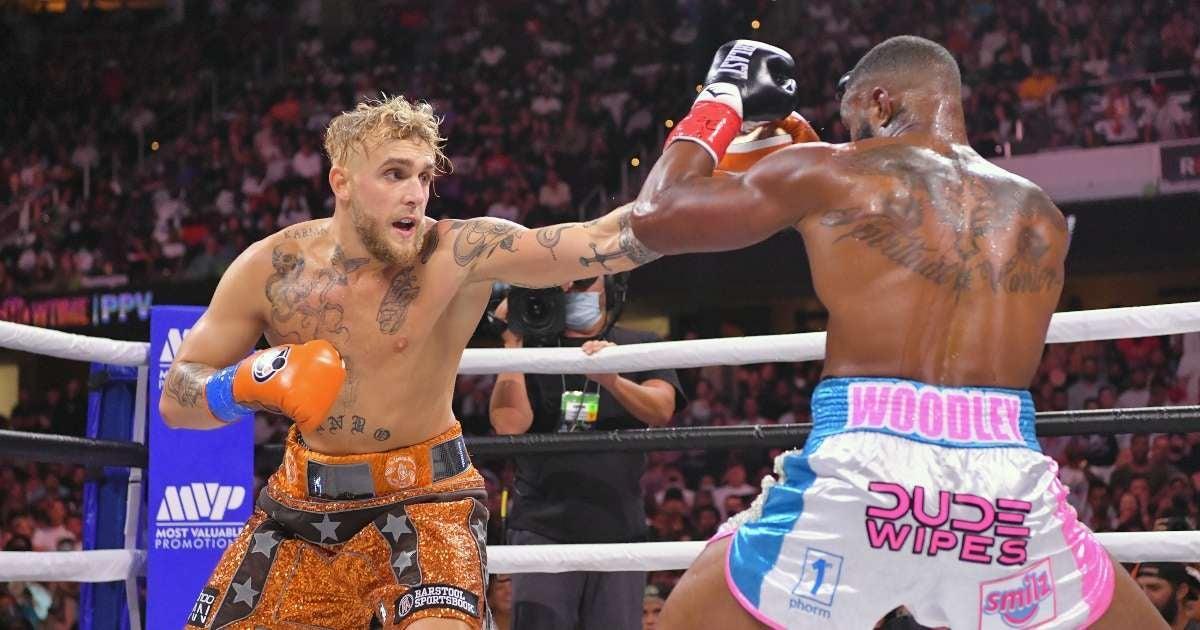 Jake Paul win fight Tyron Woodley social media reactions