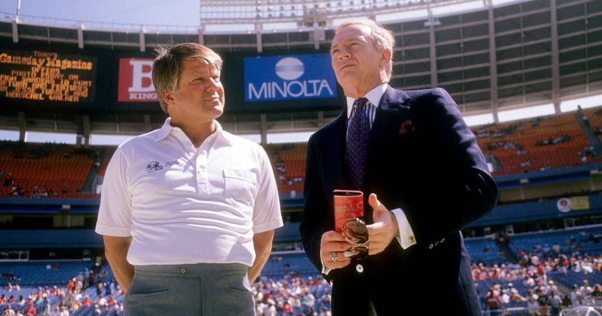 Jerry Jones Jimmy Johnson Cowboys Ring of Honor Pro Football hall of Fame
