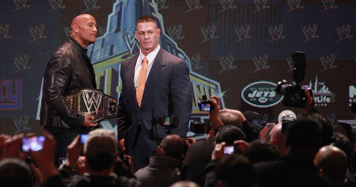 John Cena Dwayne The Rock WWE return