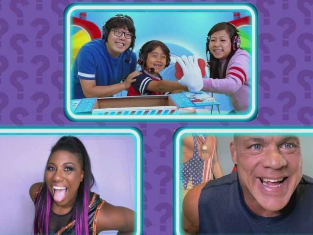 'Ryan's Mystery Playdate': WWE's Ember Moon and Kurt Angle Show off Strength in Exclusive Clip