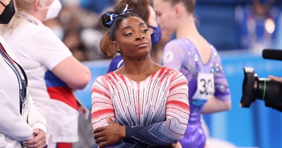 Simone Biles candid mental health Tokyo 2020 Olympics