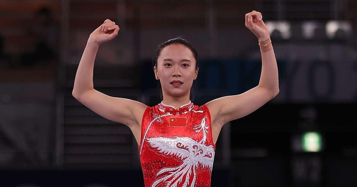 Zhu Xueying 2020 Olympian gold medal melting